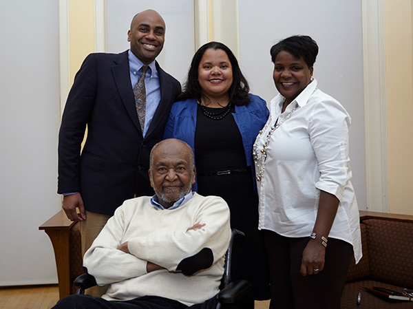 From L-R: Ernest Morrell, Macy Professor of Education and Director, Institute for Urban and Minority Education (IUME); Erica Walker, Professor of Mathematics & Education; Veronica Holly, Assistant Director, Institute for Urban and Minority Education (IUME); and seated Edmund Gordon, Professor Emeritus of Psychology and Education, Founder, Institute for Urban and Minority Education (IUME).