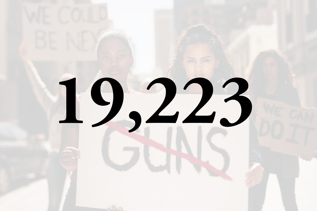 19,223 victims of gun violence